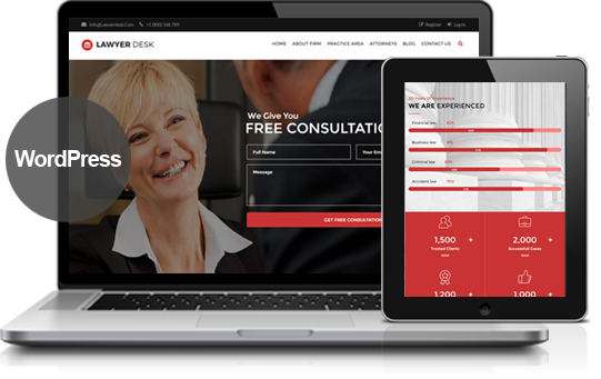 LawyerDesk Lawyer and Attorney WP Theme