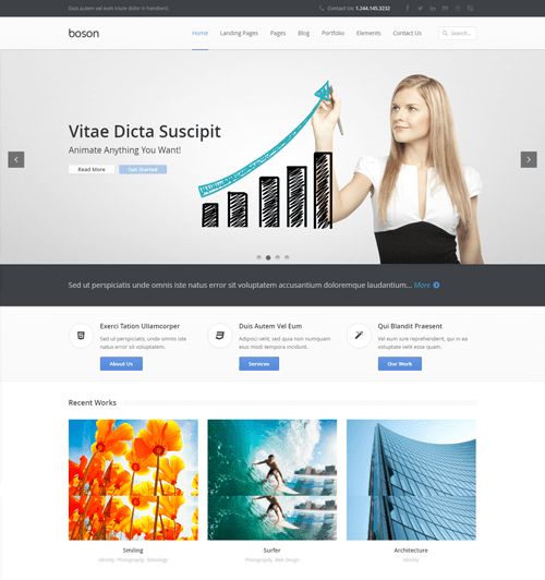 boson business html5 template