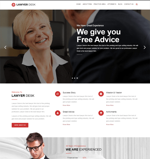 lawyerdesk WordPress Theme