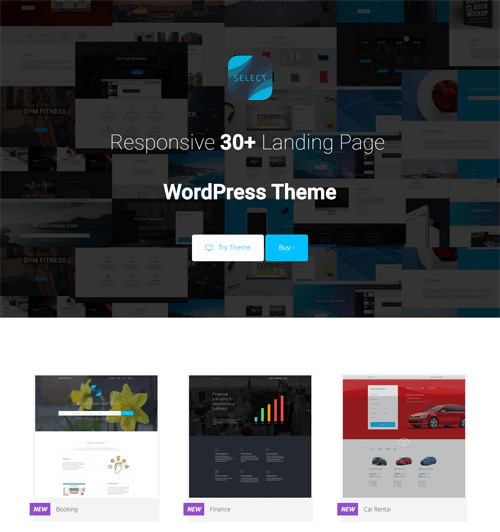 select landing page wordpress theme